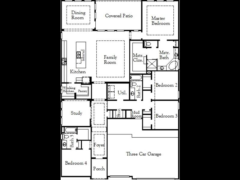 Groveton 2718 Plan Coventry Homes Santa Rita Ranch Austin Texas